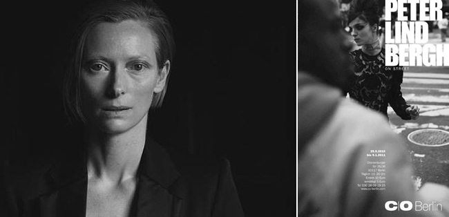 Tilda Swinton, fotografiert von Peter Lindbergh / Ausstellungsplakat / artwork: minimlwork
